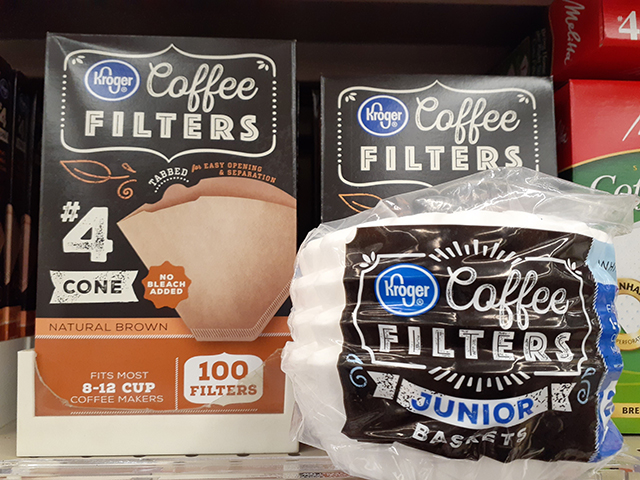Coffee filter = コーヒーフィルター