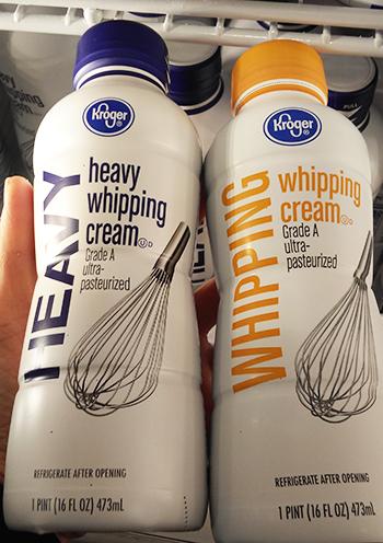 """heavy cream""と""whipping cream""の違い"