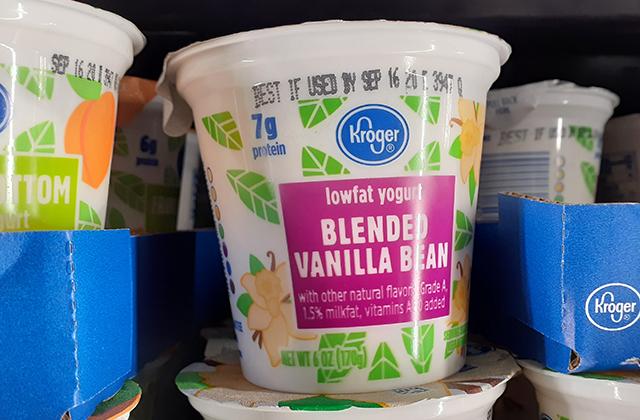Blended = フルーツやフレーバーが混ざっているヨーグルト