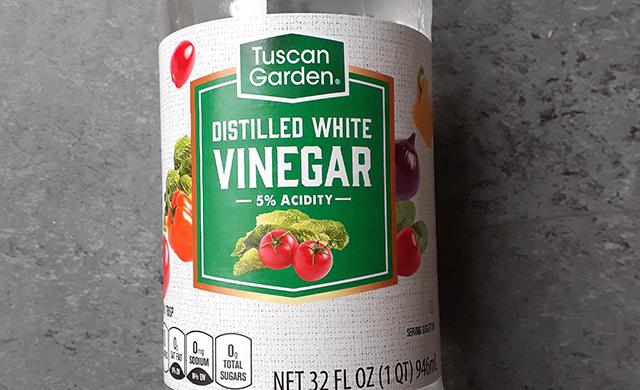 食用のwhite vinegarも掃除に使える
