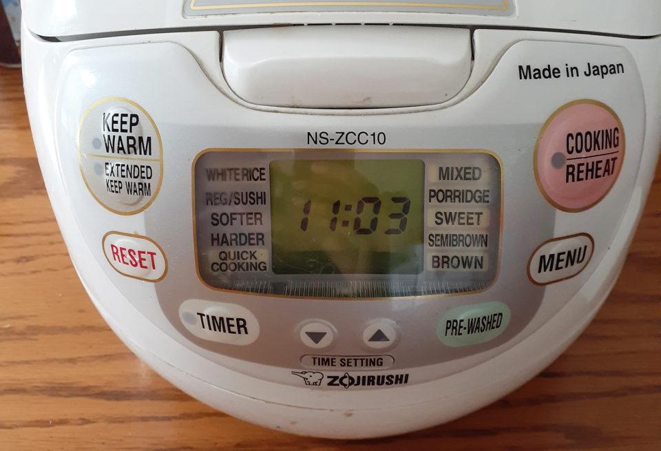 海外の炊飯器(rice cooker)の機能/ボタンの使い方・お米の種類