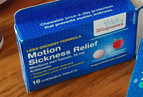 Motion sickness relief
