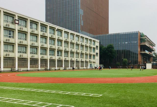 美しい人工芝の運動場