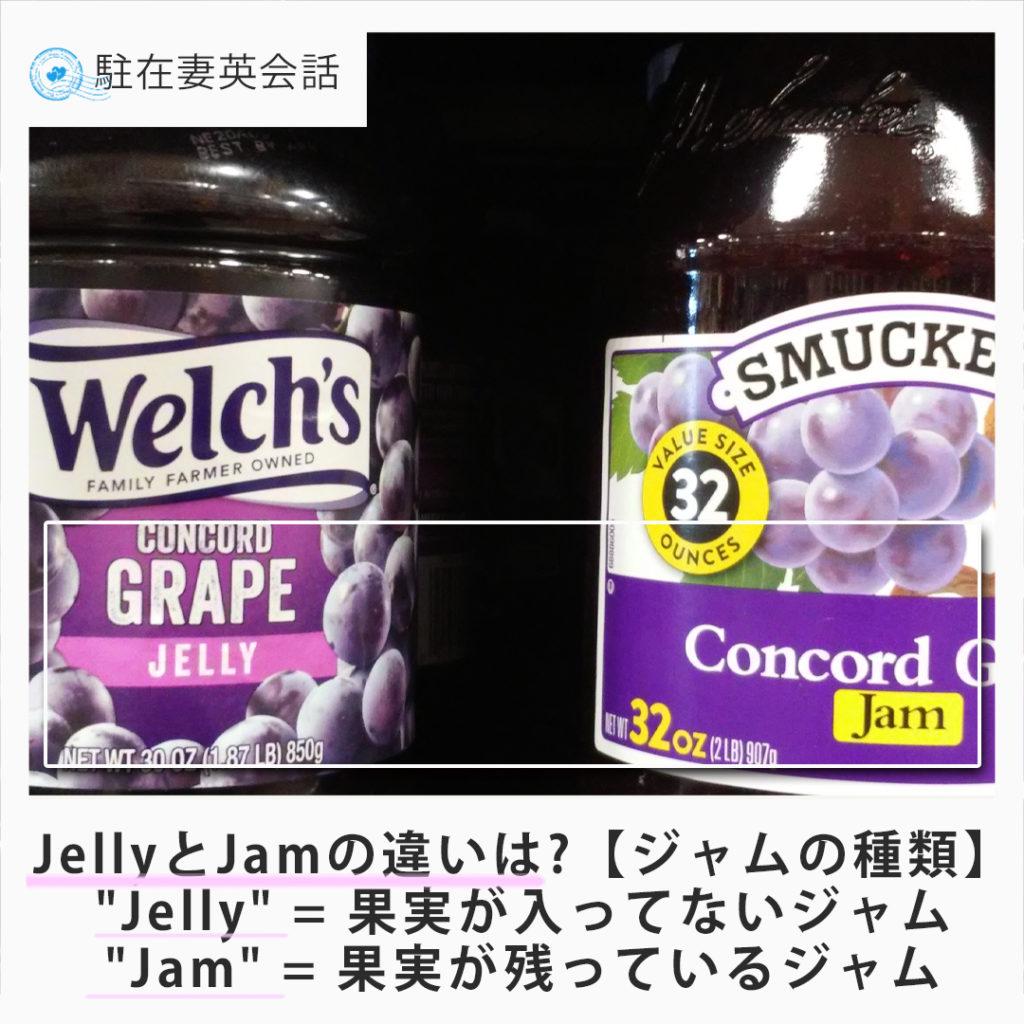 jam と jellyの違い