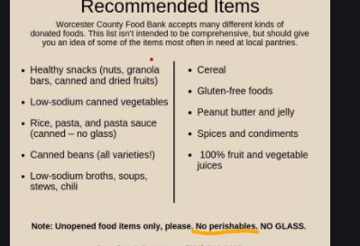 No-perishables